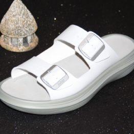 Photo de la sandale Glarus White côté extérieur