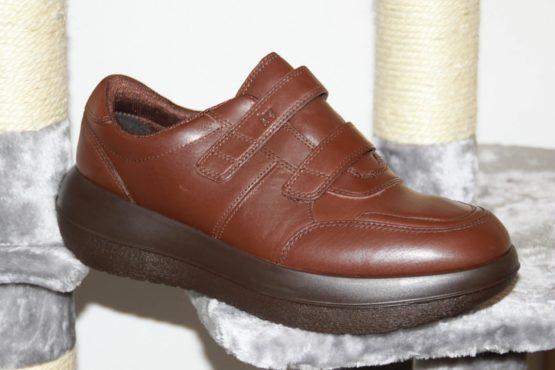 Photo de la chaussure kybun Heiden Brown vue côté extérieur