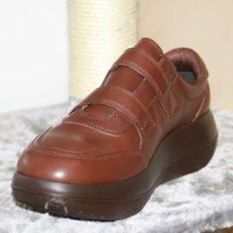 Photo de la chaussure kybun Heiden Brown vue côté intérieur